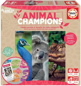 Juego de mesa de Animal Champions de Educa - Los mejores juegos de mesa de animales